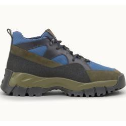 Tod's – Boots aus Leder und technischem Gewebe, Blau, 6 – Shoes Tod's