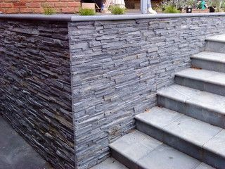 Liking The Pencil Slate Stone With The Concrete Maybe For The Wall In 2020 Stone Cladding Exterior Exterior Wall Cladding Stone Wall Cladding
