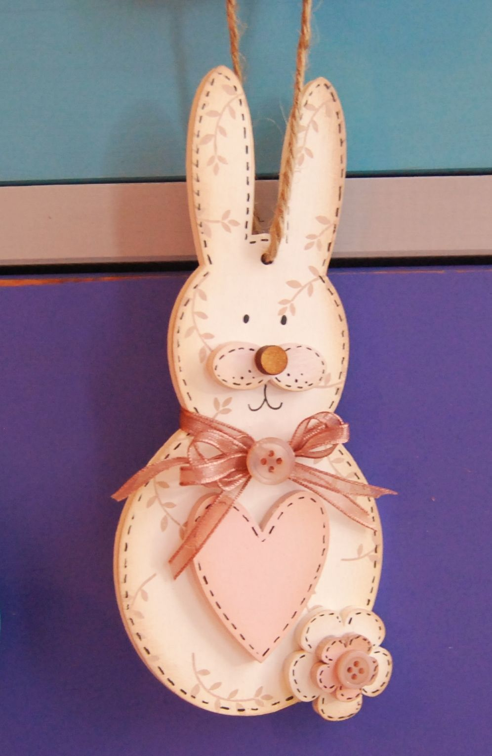 Easter Bunny Hanging  Shapes 3mm thick SET OF 3