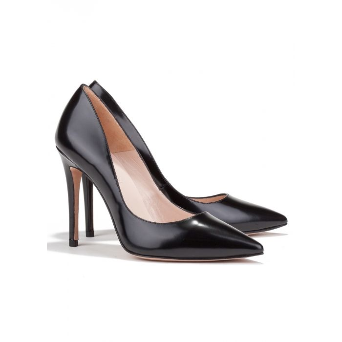 71a116b3792695 High heel pumps in black leather - online shoe store Pura Lopez ...