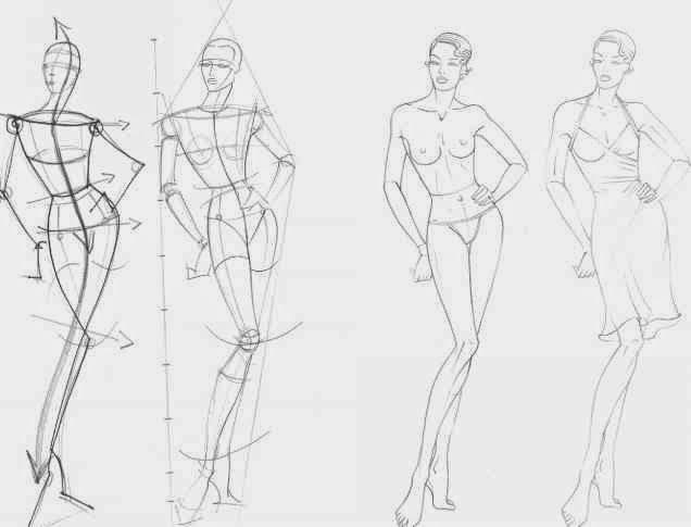 8714 5 84 Fashion Figure Outline Jpg 636 485 ファッションのスケッチ ファッションフィギュア 人物デッサン