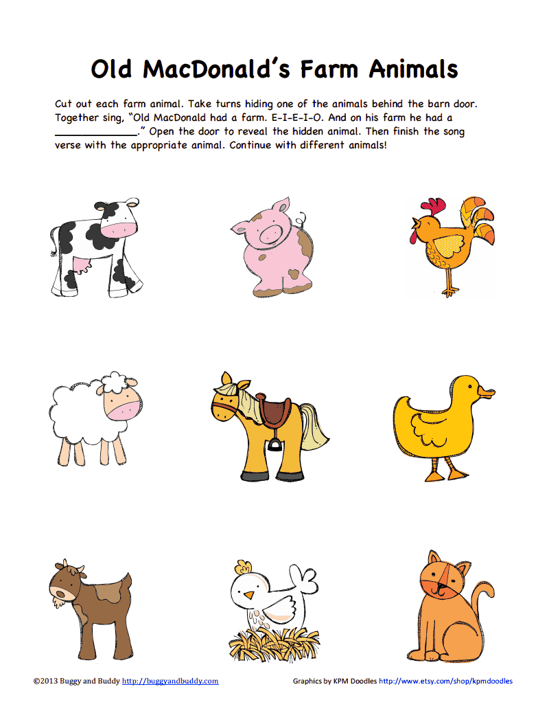 Farm Animals Color Pdf Google Drive Animal Unit Pinterest