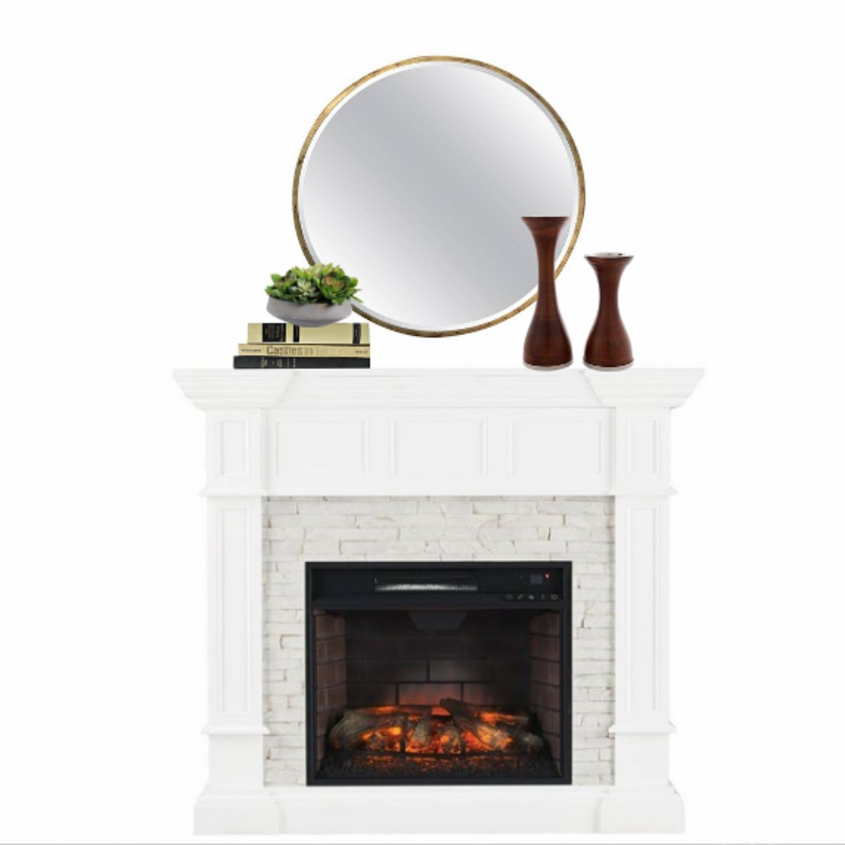 How to perfectly decorate a fireplace mantel in your home
