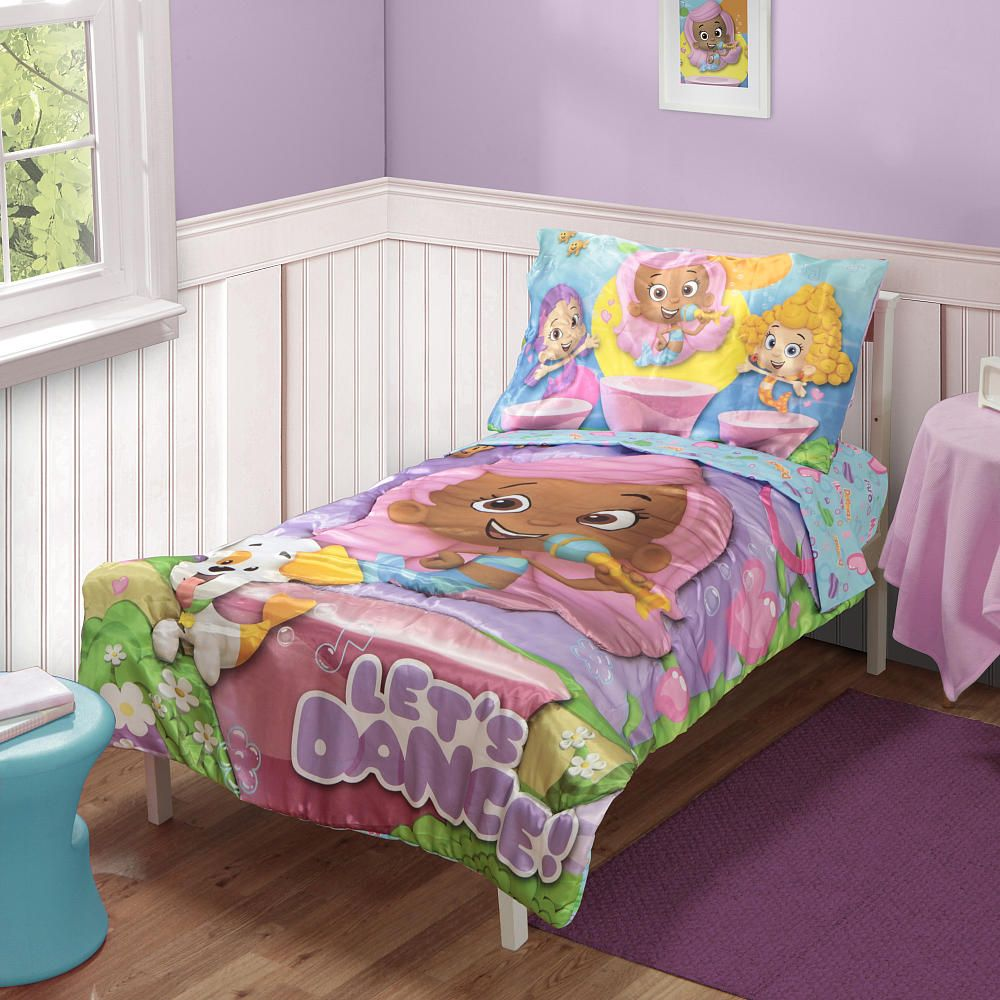 Bubble Guppies 4 Piece Toddler Bedding Set