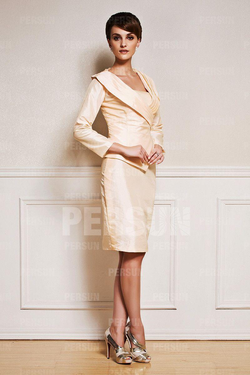 Tailleur Chic en taffetas   fashion   Tailleur, Robe cérémonie, Robe 4881de32953