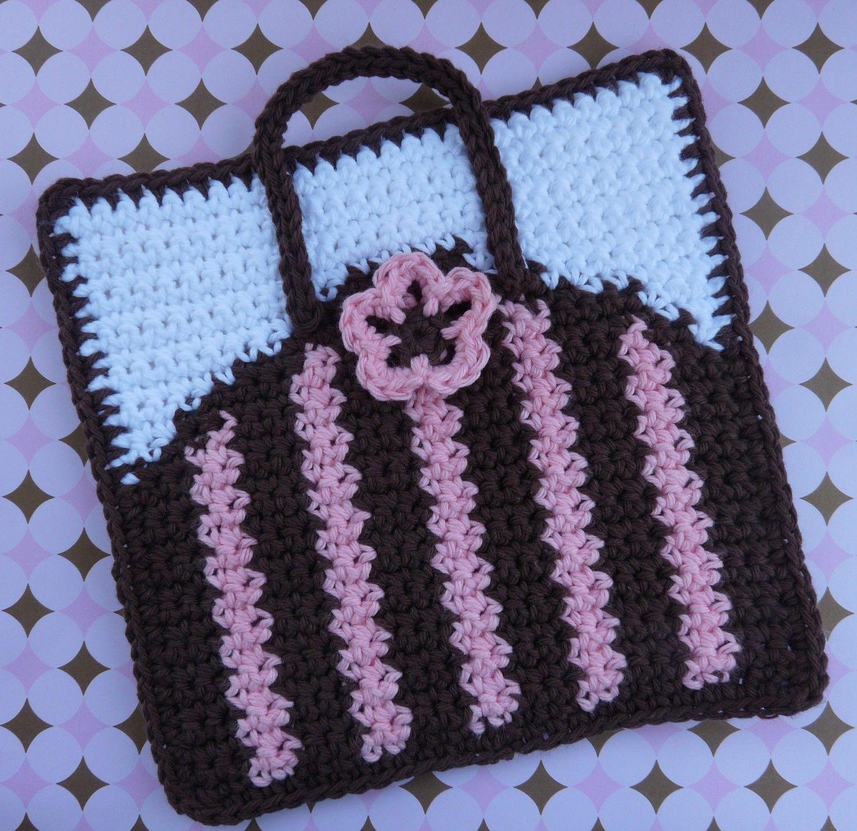 Purse Potholder Crochet PATTERN - INSTANT DOWNLOAD | Pinterest ...