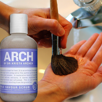 Learn how to wash your makeup brushed with ARCH Sole Savour Scrub! https://www.facebook.com/photo.php?fbid=209833669188944&set=a.118511851654460.20567.117428481762797&type=1&theater