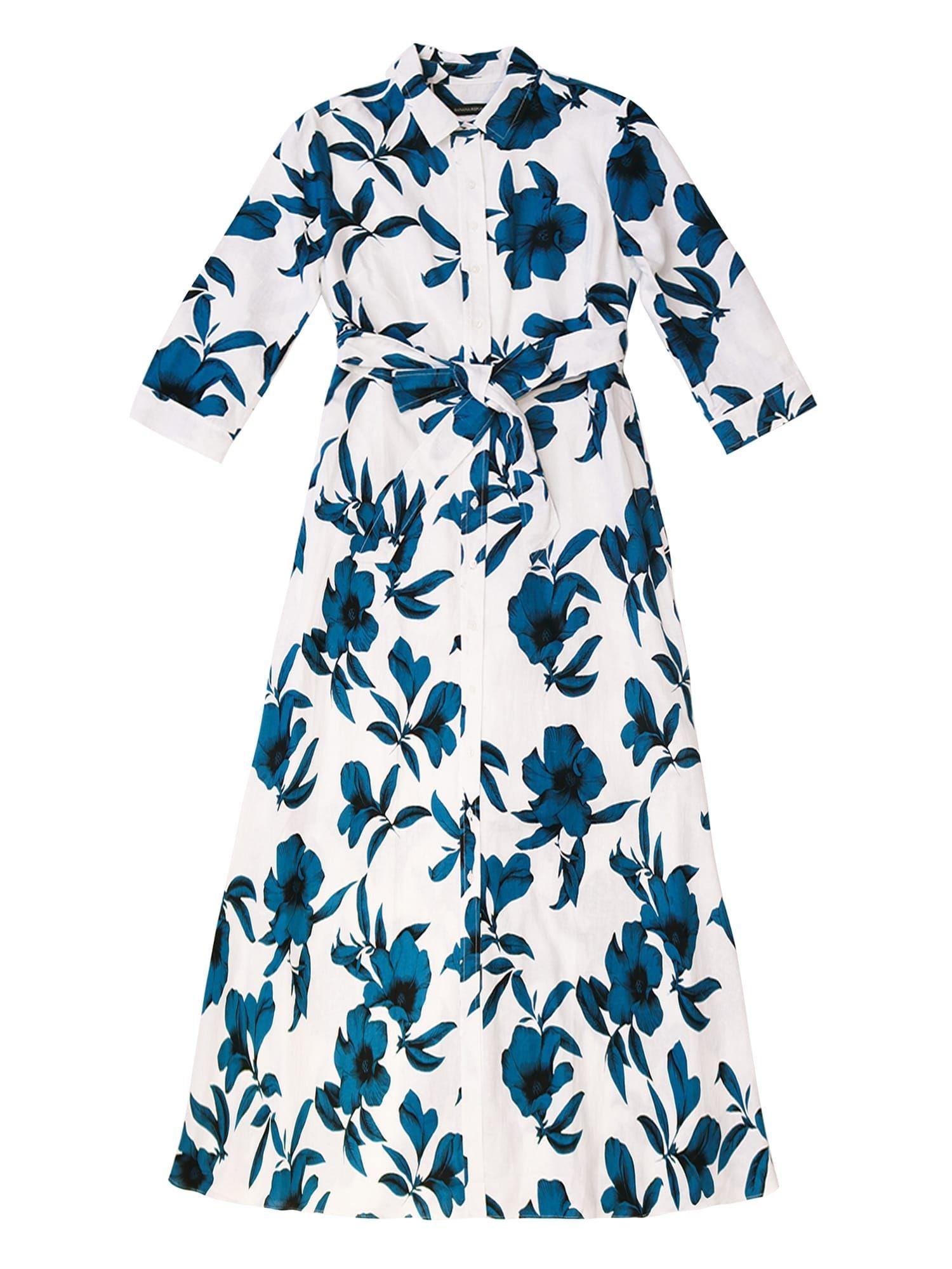 JAPAN EXCLUSIVE Linen-Cotton Maxi Shirt Dress   Banana Republic ...