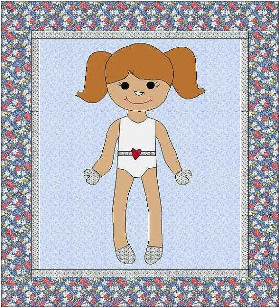Morgan Dress Up Doll Quilt - Paper Doll Pattern - Quilt Pattern ... : doll quilts patterns - Adamdwight.com