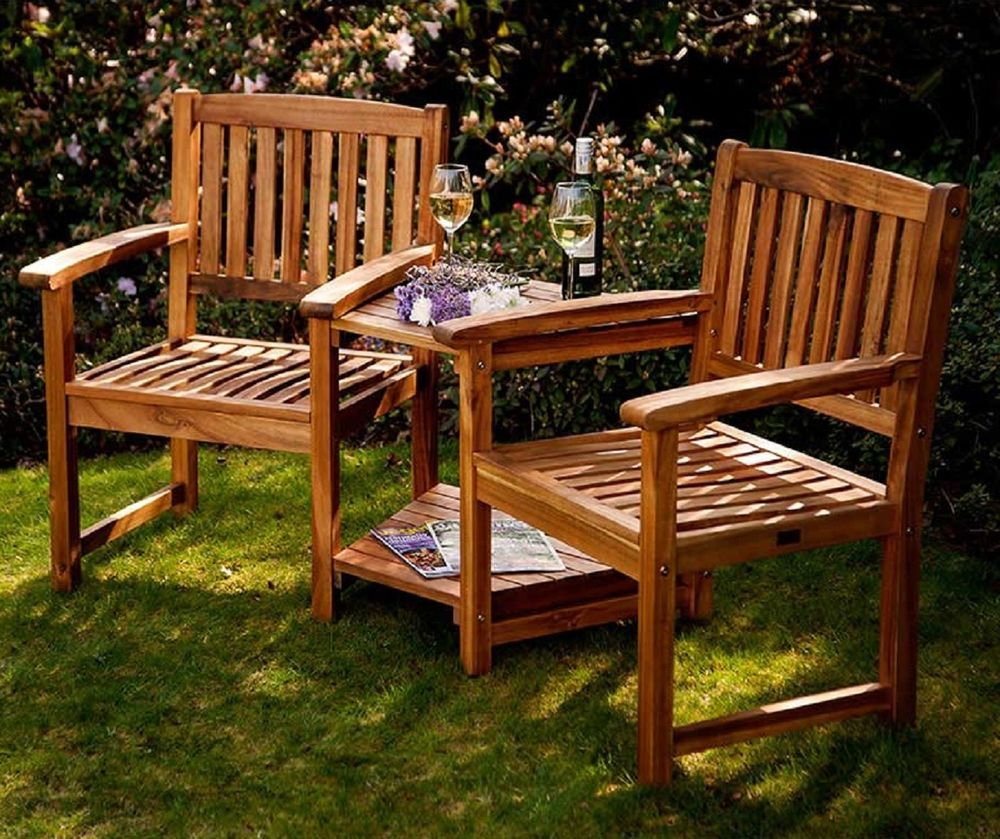 Companion Set Love Seats Garden Corner Bench 2 Chair ...