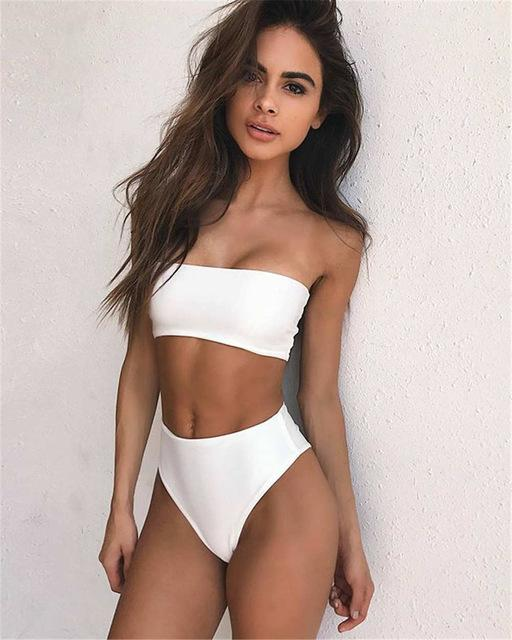 3da8a6088a Swimsuit · Bikini Tops · High-Waisted Simple Chic Strapless Bikini #rompers  #DreamClosetCouture #love #Fashion #
