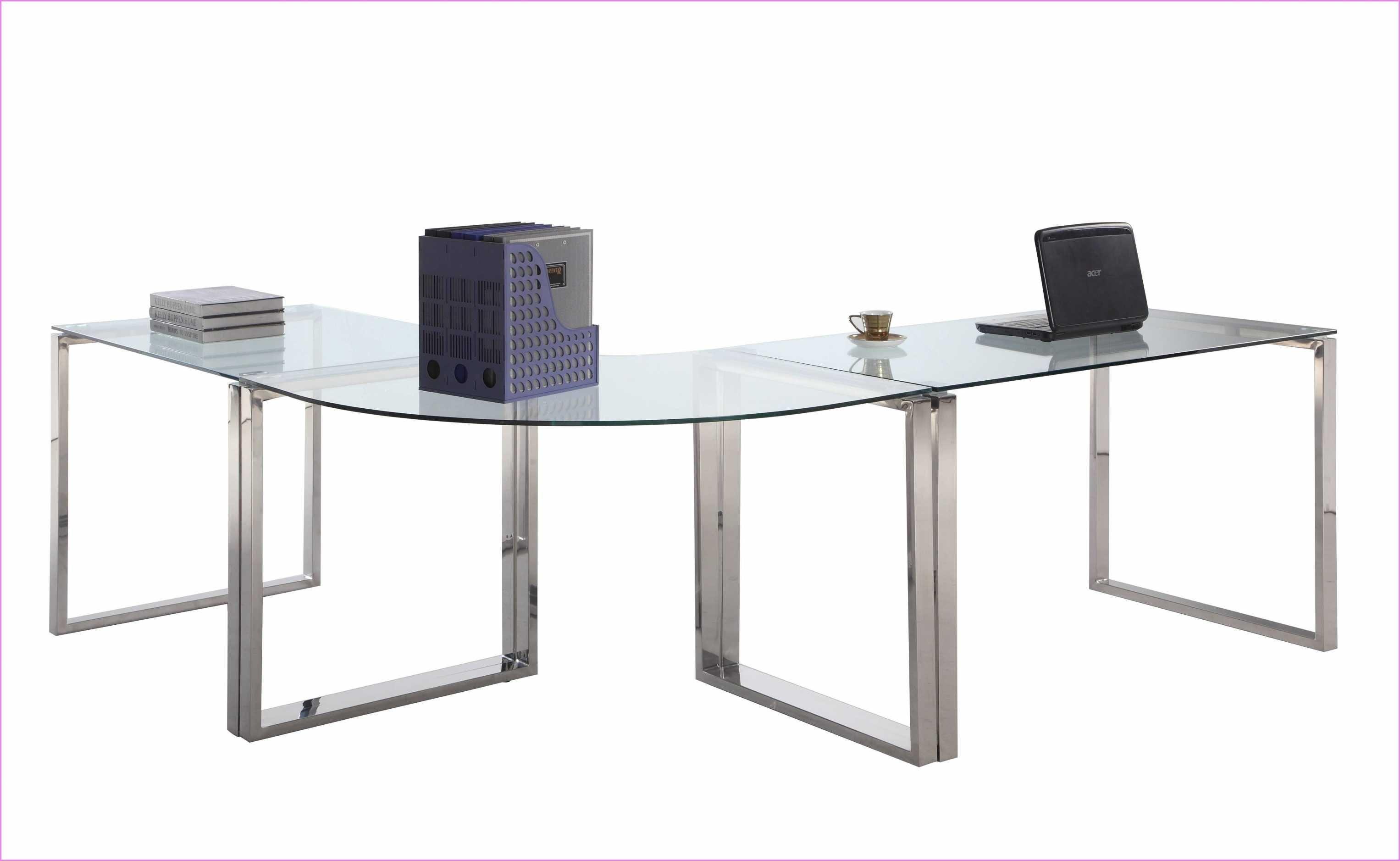 Glass corner desk new release