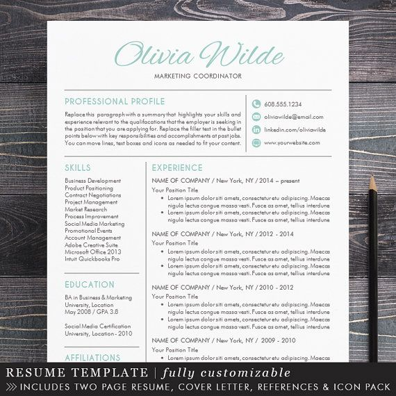 Creative Resume Template - Creative Professional Resume Template for