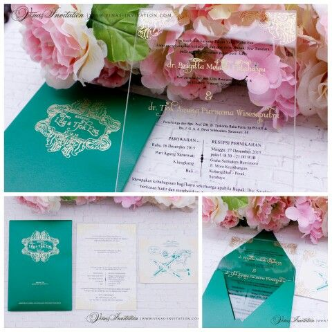 Vinas invitation Vinas wedding Acrylic invitation Acrylic series - wedding invitation design surabaya