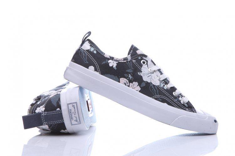 b54d84b210bb Black Converse Jack Purcell Floral Print Low Canvas Shoes  converse  shoes