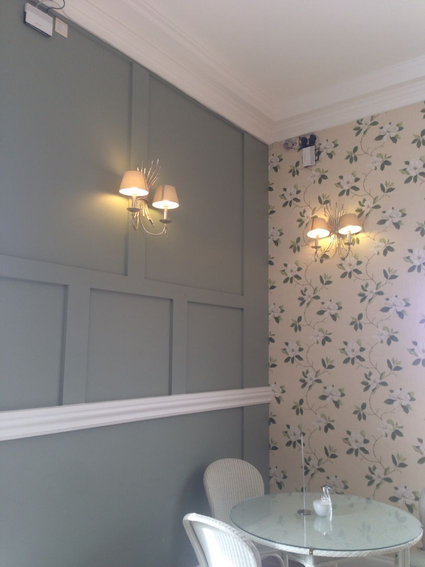 Paneling and wallpaper