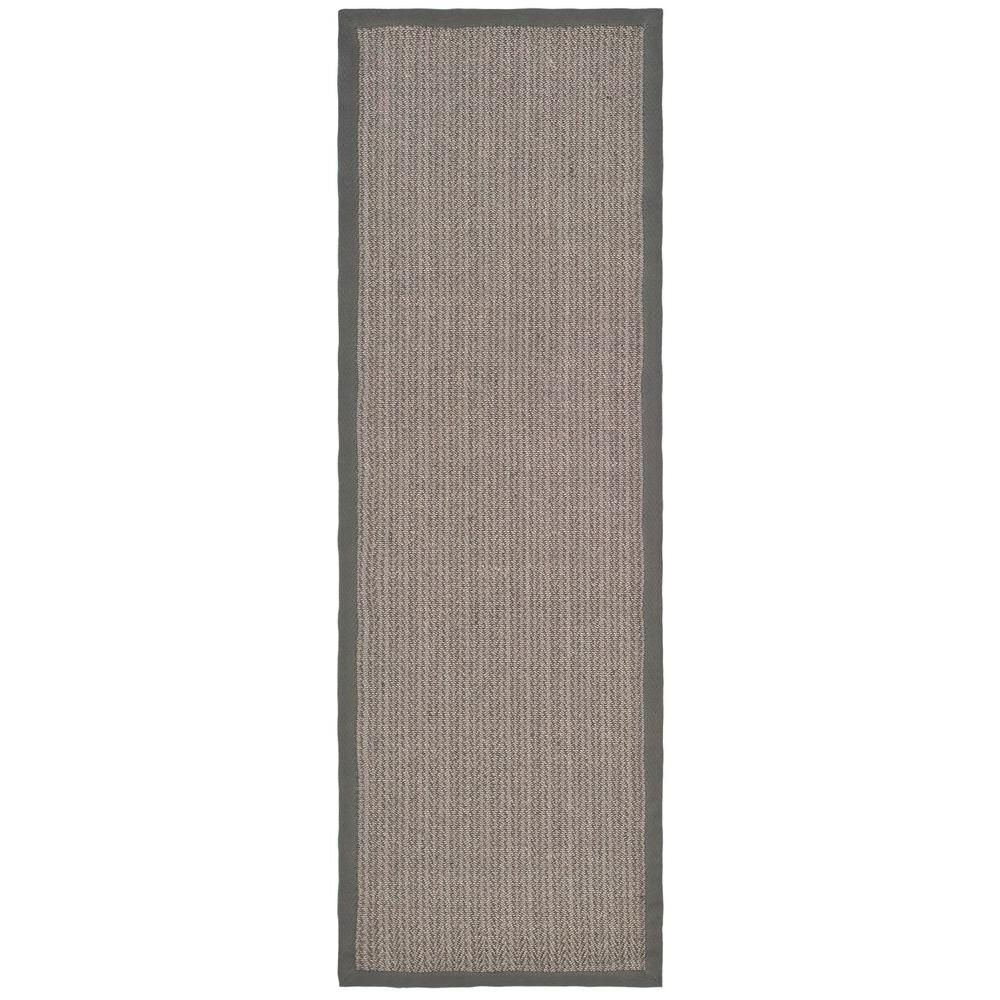 Safavieh Natural Fiber Gray Brown Gray 3 Ft X 12 Ft Indoor Runner Rug Nf444a 212 Area Rug Runners Natural Fiber Rugs Rug Runner