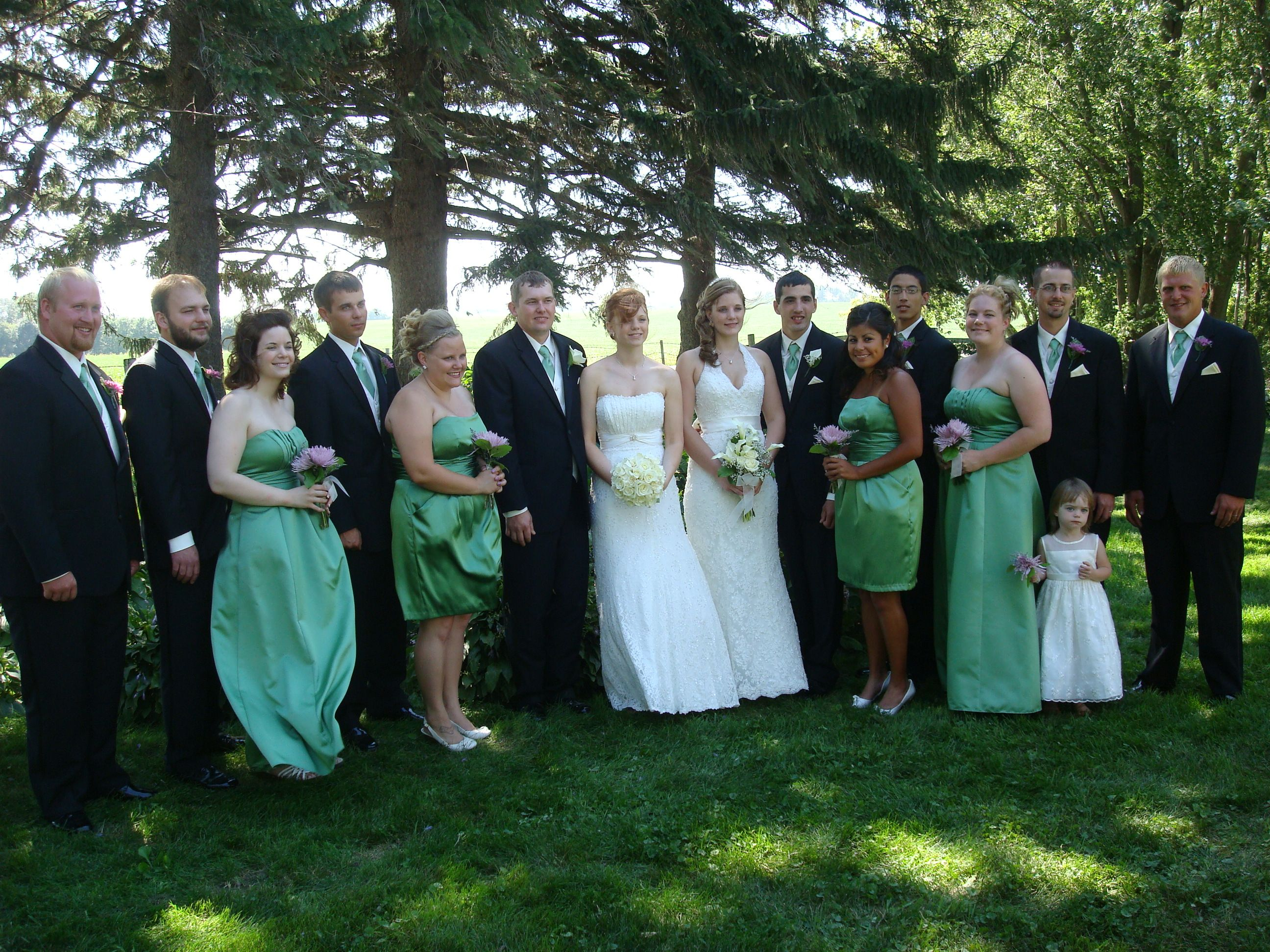 Ourweddings This Was A Double Wedding From 2010 Both Brides Were Stunning Wedding Dresses Bridesmaid Dresses Bride