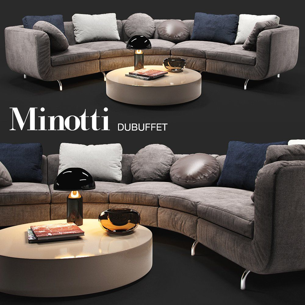 Sofa Minotti Dubuffet #table#lamp#Include#pillows