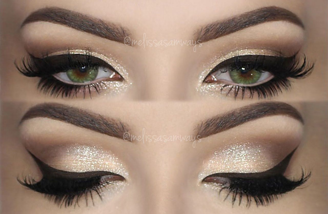 CHAMPAGNE Smokey Eye ♡ Make Up TUTORIAL ♒Thank You♒I Love ...