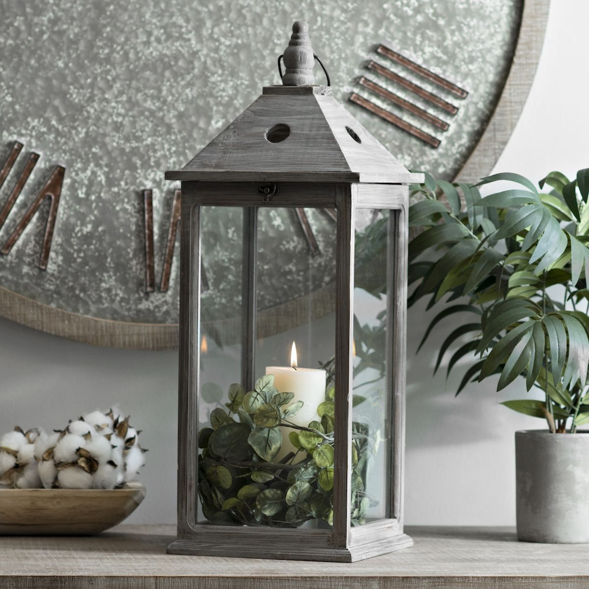 Product Details Morgan Gray Wooden Lantern In 2019