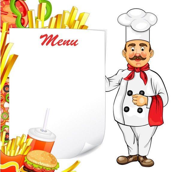 Food Border, Food Stickers, Kitchen Art