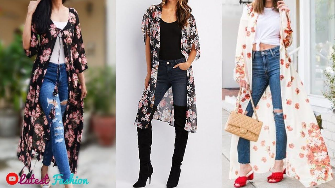 4d5b31db598 Georgette Floral Long Shrug