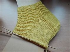 Photo of Gelbe Welle Nadelspiel 2,5 Wolle von Supergarne 60 Gesamtmaschen Größe 35/36 B…