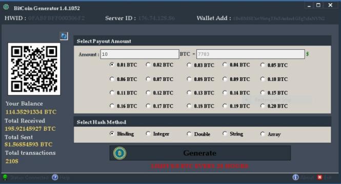 bitcoin generator szoftver)