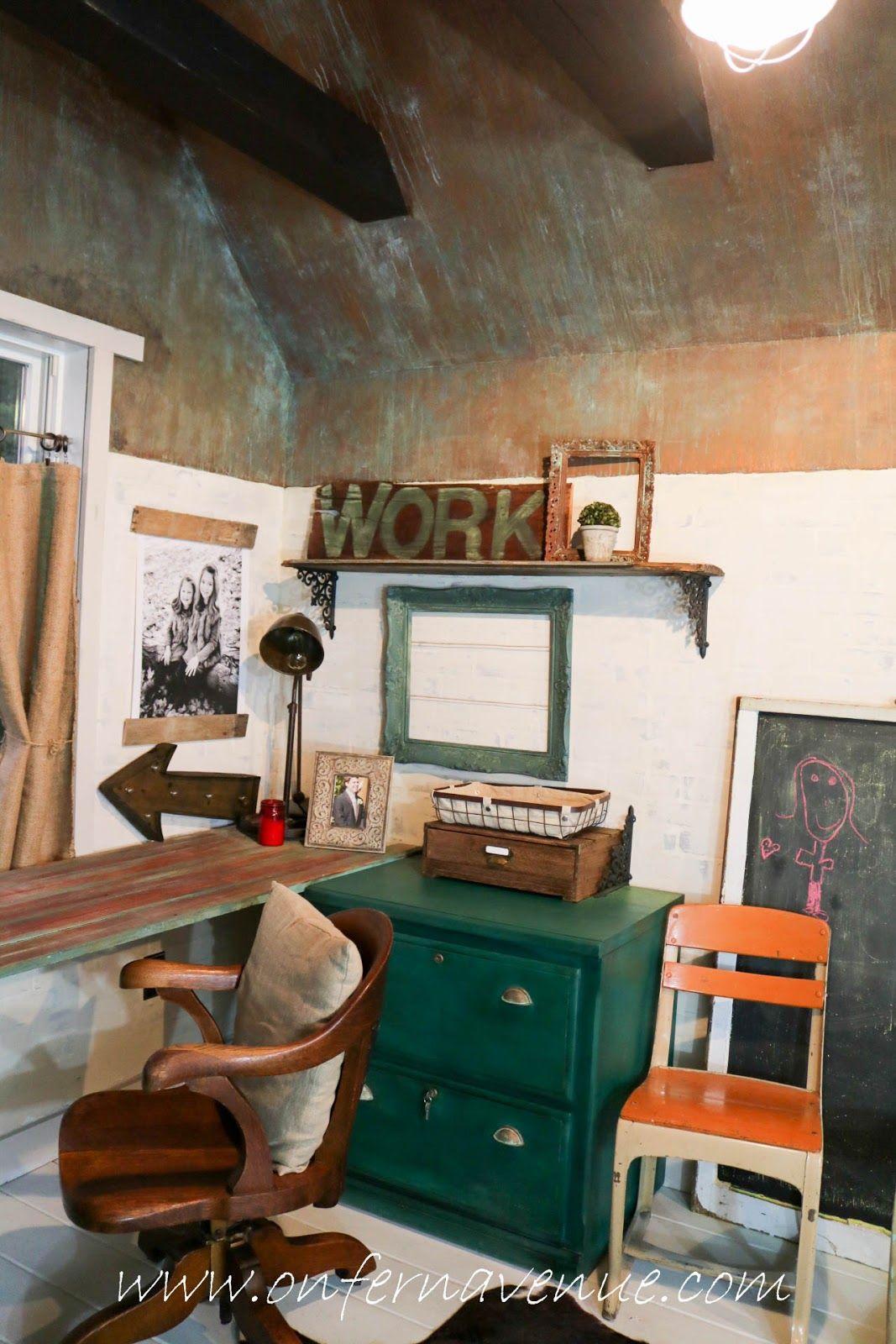 Onfernavenue desk build using wise owl paint in neptune