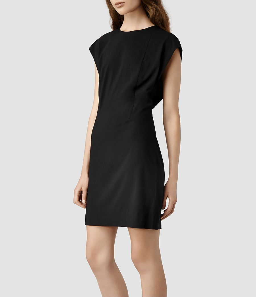 Womens Reyla Dress (Black) | ALLSAINTS.com