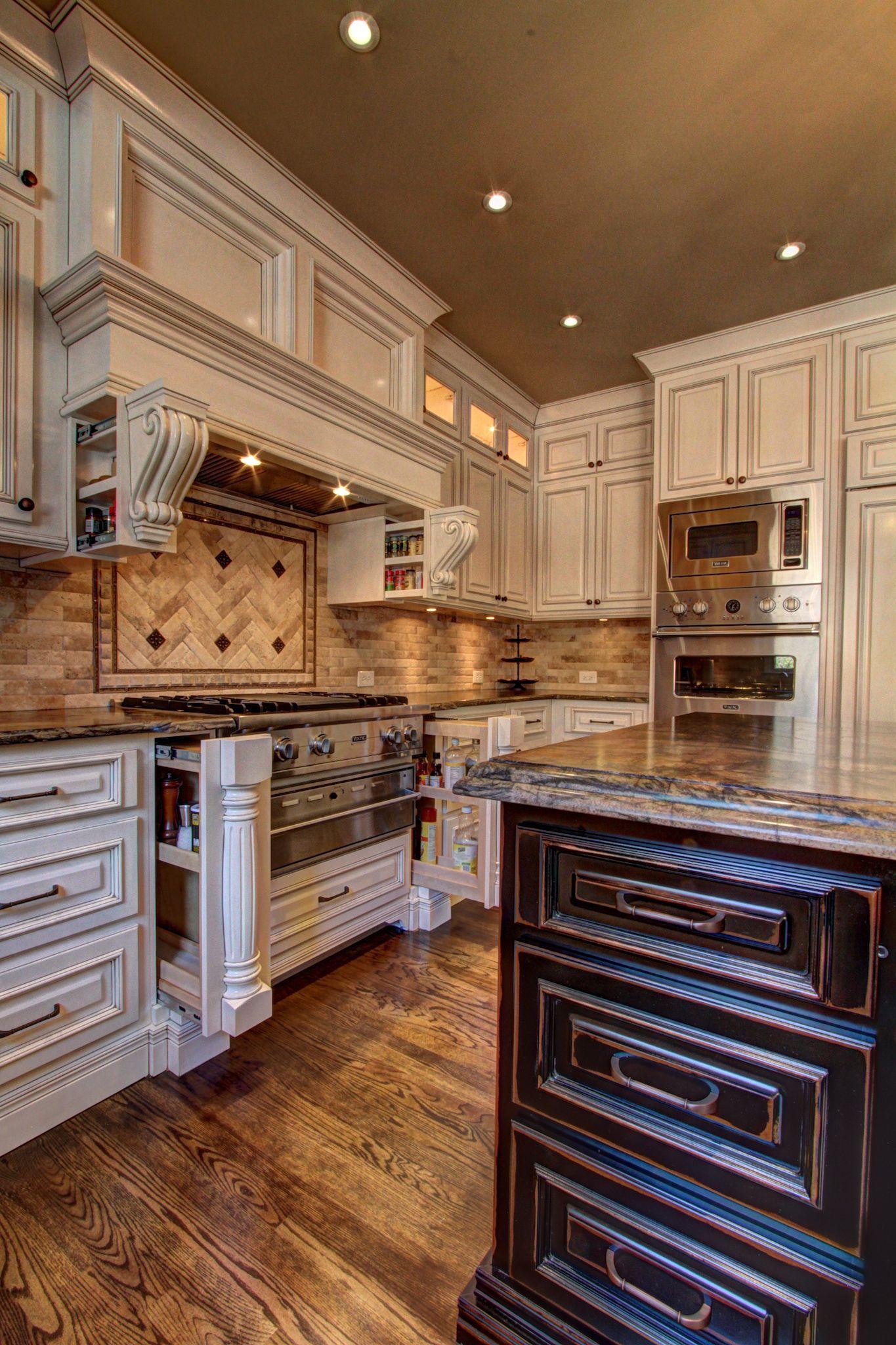 Hidden Spice Rack Traditional Kitchen Online Kitchen Cabinets Traditional Kitchen Cabinets