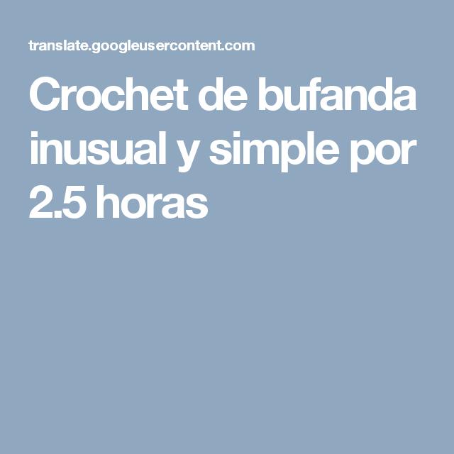 Crochet de bufanda inusual y simple por 2.5 horas   bufanda yakeri ...