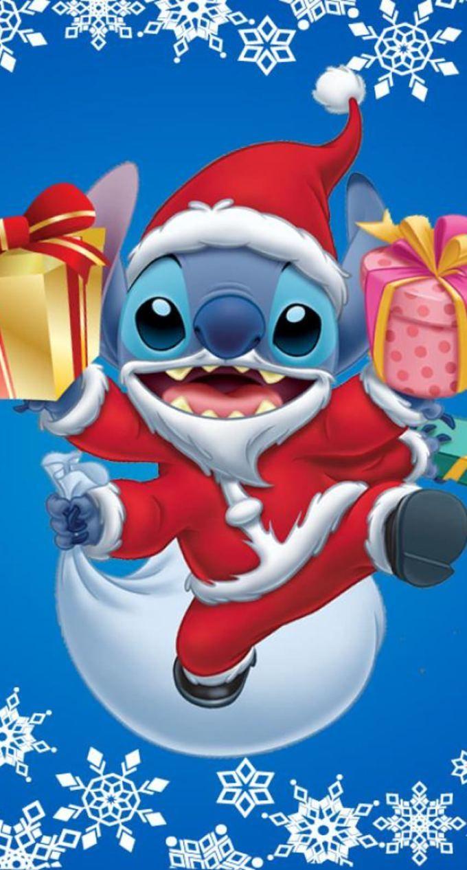 リロ アンド スティッチのクリスマス ディズニーの背景