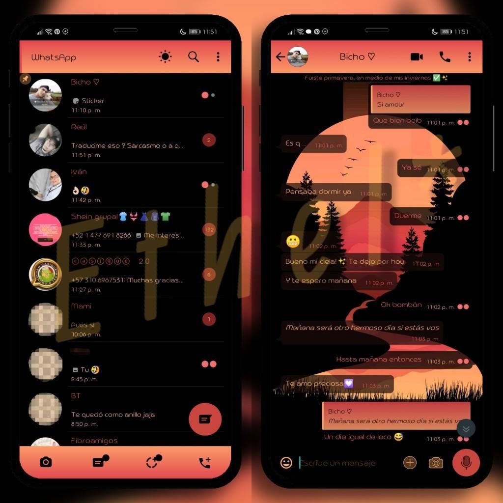 Pin On Night Mode Whatsapp Themes