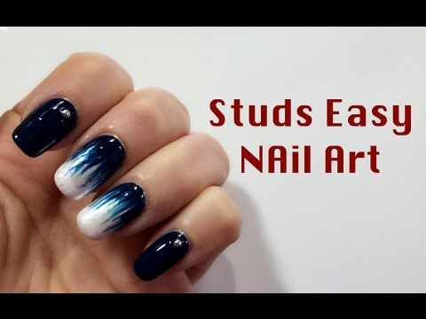 Studs Easy Nail Art Mikeligna Youtube Nails Pinterest Easy