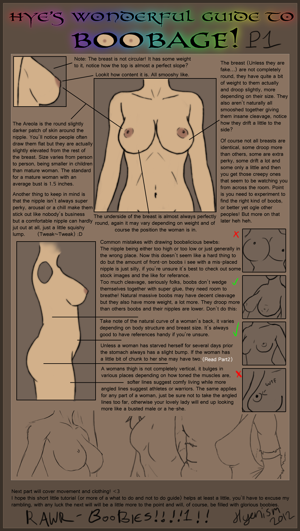 Hyes Boob Guide Part01 By Syrubis Draw Human Breasts Boobs And