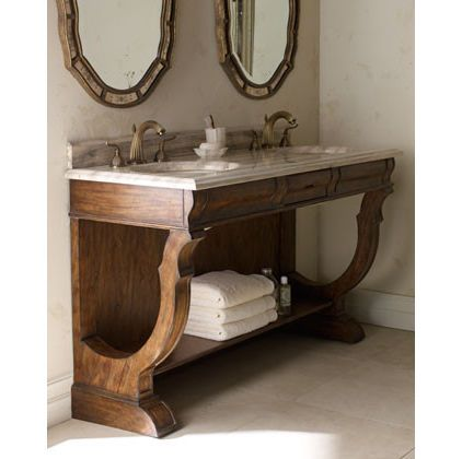 traditional bathroom vanities and sink consoles by Horchow ...