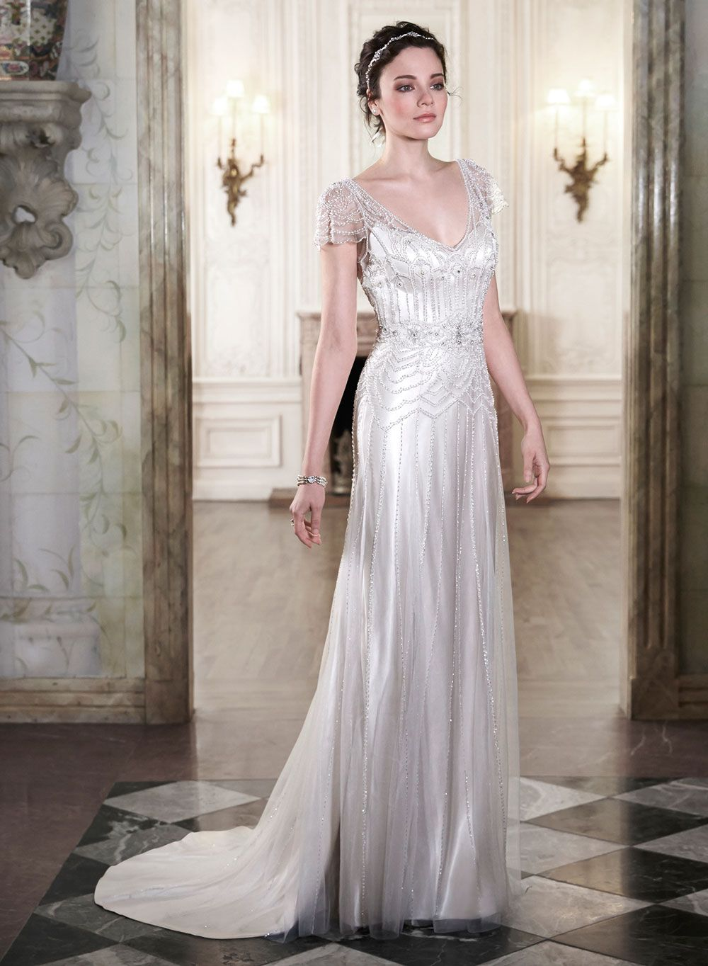 20s style wedding dress s Wedding Dresses Add Some Gatsby Glamour to Your Big Day