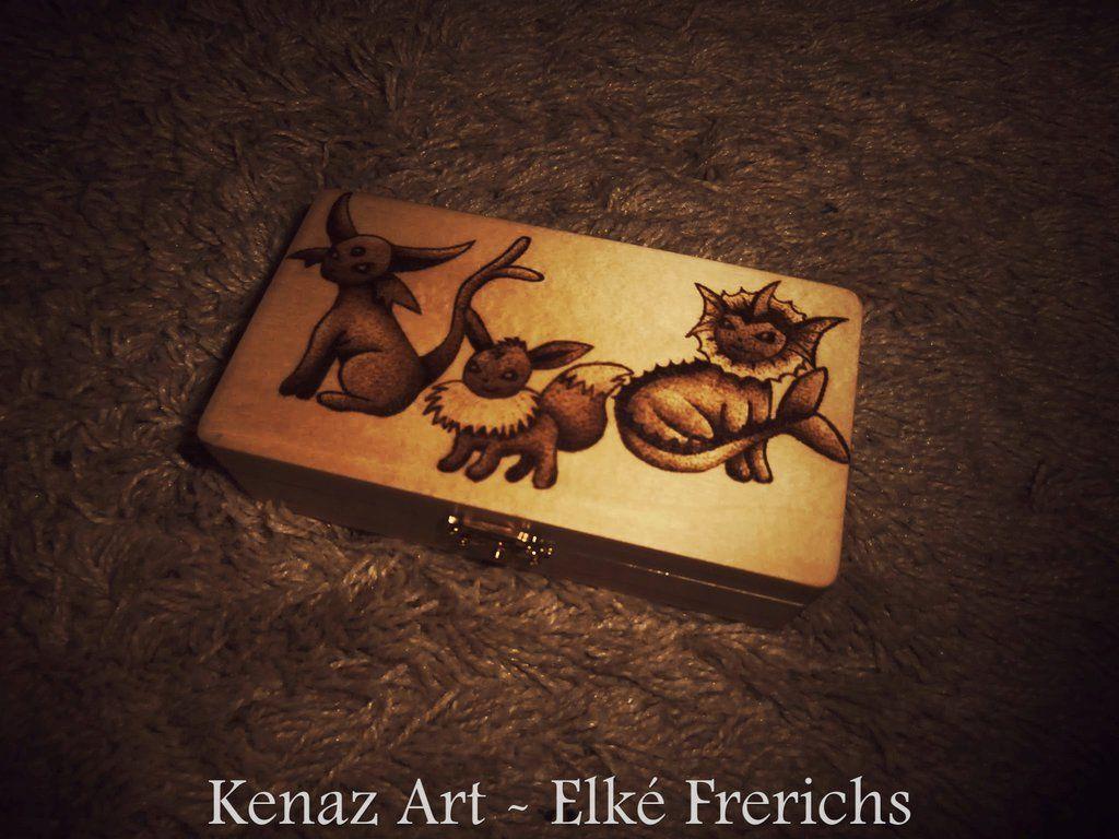 Eeveelutions Pyrography by KenazArt.deviantart.com on @DeviantArt
