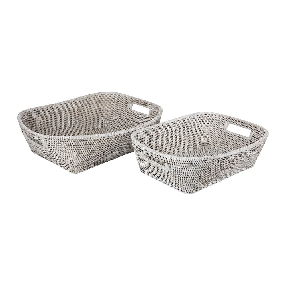 Lille Baskets - Set of 2 - White | Lille, Bathroom accessories and ...