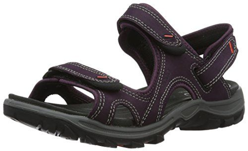 ECCO Women's Offroad Lite Athletic Sandal, MauveBlack, 41