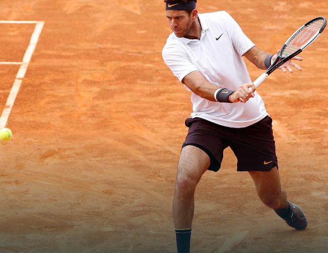 Snimka Double Duty Pleases Del Potro In Rome Atp Tour Tennis Rome Double Duty Tennis