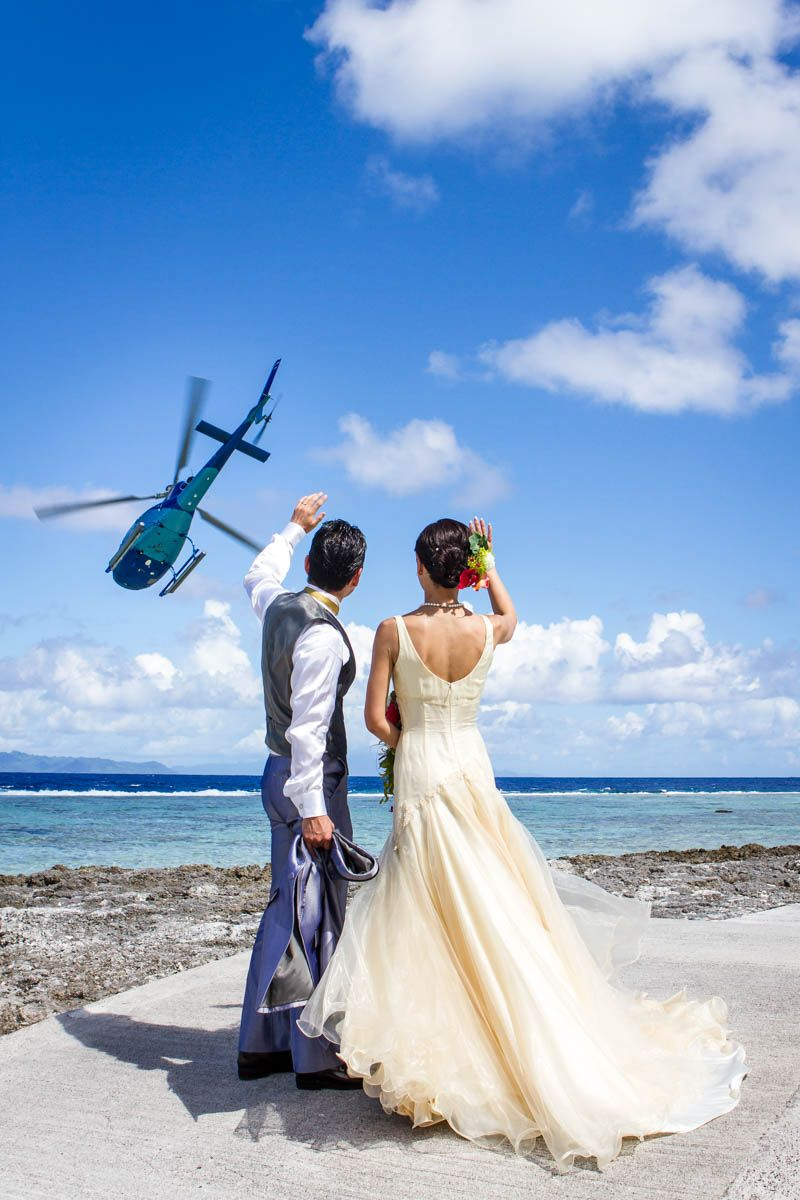 Bora Bora Wedding Destination Helicopter Weeding In The Island Heart Tupai Organized By The St Bora Bora Photographer Bora Bora Wedding Honeymoon Photography