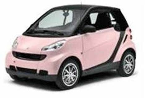 A Pink Smart Car Small Cars Smart Car Smart Fortwo