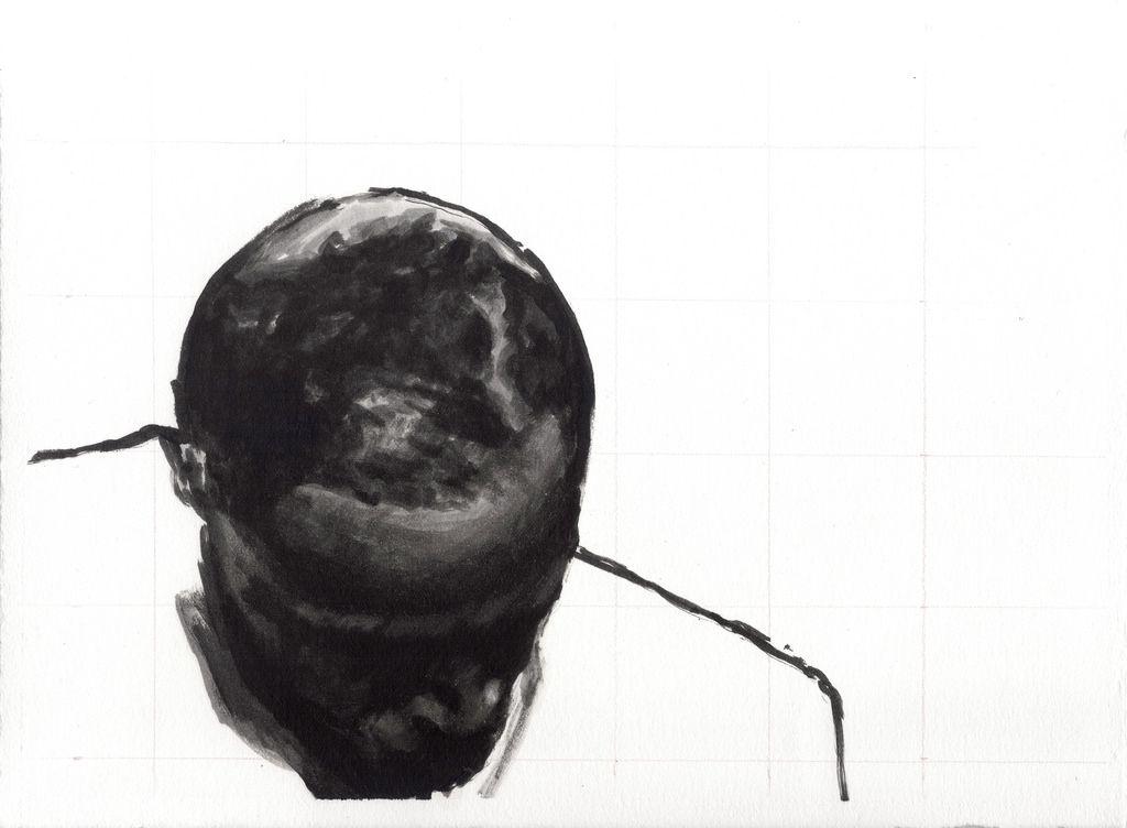 """de la serie """"Palmeras Salvajes"""" Oleo sobre papel, 29 x 21 cm.  2014"""