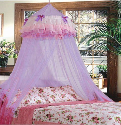 Triple Lace Ruffle Princess Purple Lilac Canopy * Click on the image for additional details.
