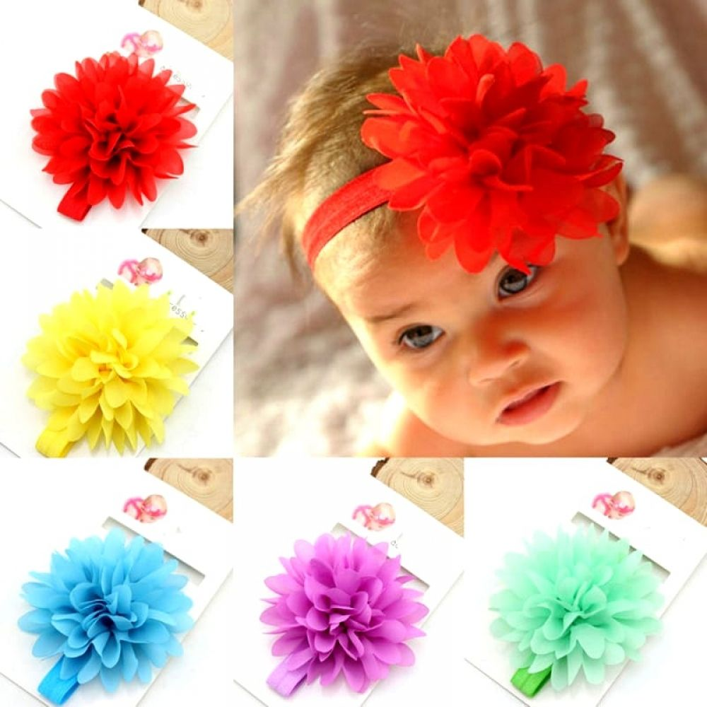 Baby Girls' Flower Shaped Hair Band #babyhairaccessories