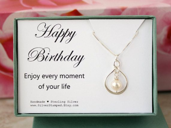 Birthday gift for friend sterling silver Infinity by SilverStamped