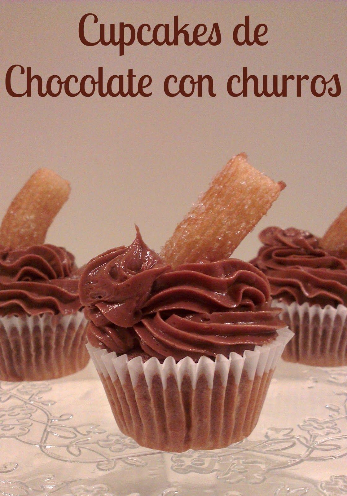 Sivila Happy Bakery : ♥ Cupcakes de chocolate con churros!!
